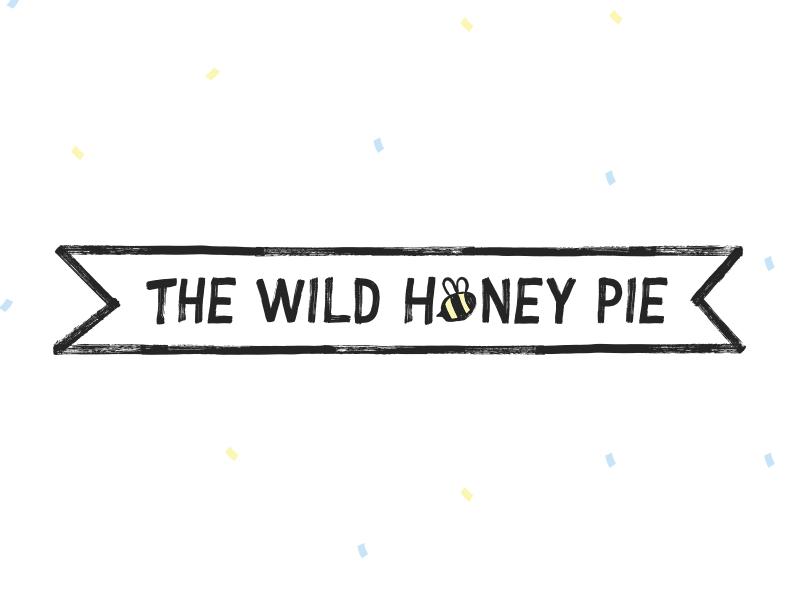 Banner Logo - The Wild Honey Pie typography lettering banner bee vector hand drawn logo
