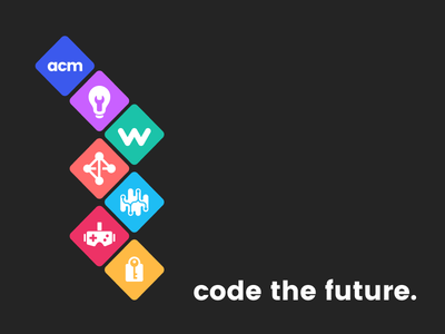 UCLA ACM: Code the Future code the future computer science branding logos rebrand