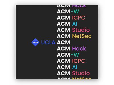 UCLA ACM: Our communities computer science styleguide acm ucla branding