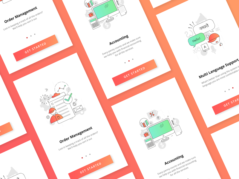 Pitstop Partners - Onboarding Screens