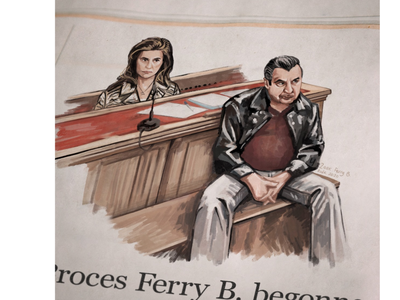 Courtroom sketch for Netflix original Undercover courtroom sketch courtroom art newspaper illustration rechtbanktekening undercover netflix ferry bouman netflix law court courtroom