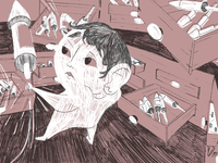 Detail from my 'fireworks' illustration