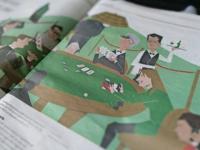 Editorial illustration Pokergame