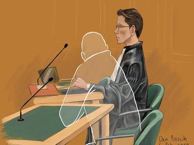 Courtroom XI procreate rechtspraak courtroom sketch sketch rechtbanktekening rechtbanktekenaar courtroom court