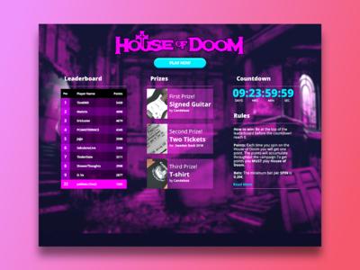 House Of Doom - Dashboard