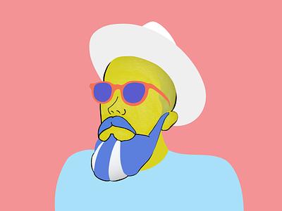 Profile image illustration profile branding identity