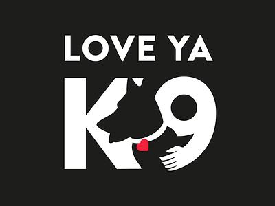 LOVE YA K9 Logo love k9 dog logo