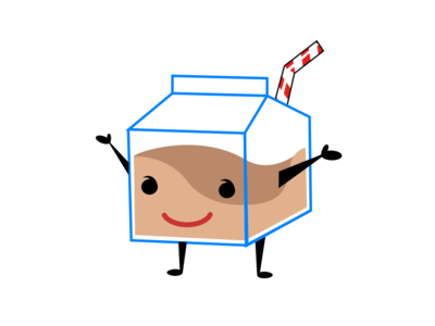 Early concept for chocolate Milk identity logo branding