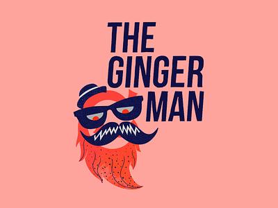 The Ginger Man icon illustration identity logo branding