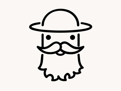 New personal profile icon design 2019 outline simple hat beard icon profile