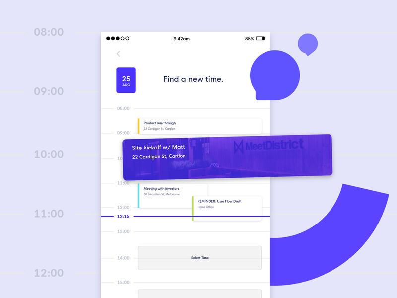 Toodaloo - Calendar UI meeting calendar ux ui startup app branding internet app brand and identity simple branding