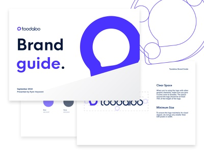 Toodaloo - Brand Guide modern style guide brand guide logo startup internet brand and identity simple branding