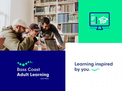 Bass Coast Adult Learning - Brand Identity learning education brand and identity modern logo simple branding