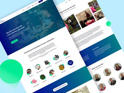 Bass Coast Adult Learning - Website internet web modern simple education learning startup landing page website
