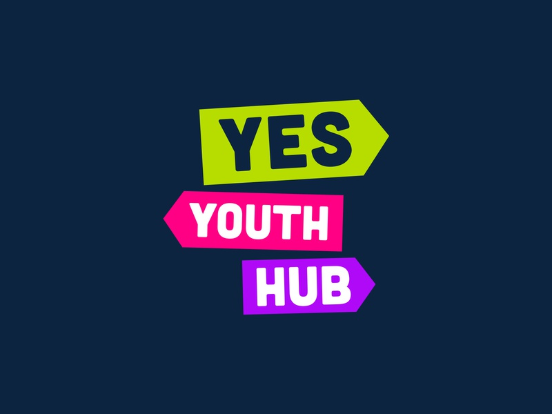 Yes Youth Hub | Identity colorful youth startup brand and identity logo modern simple branding