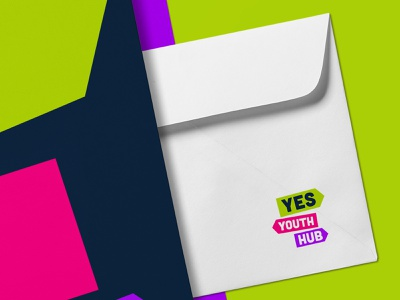 Yes Youth Hub | Branding colorful color youth startup brand and identity logo modern branding simple