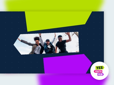 Yes Youth Hub | Facebook Cover colorful youth internet facebook startup brand and identity logo modern branding simple
