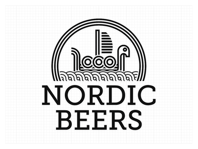 Nordic Beers logo sea beer boat viking