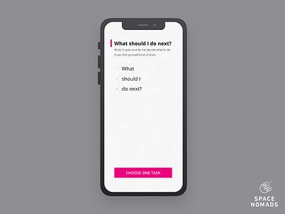 Main screen ui design sketch tasks decision manager webapp