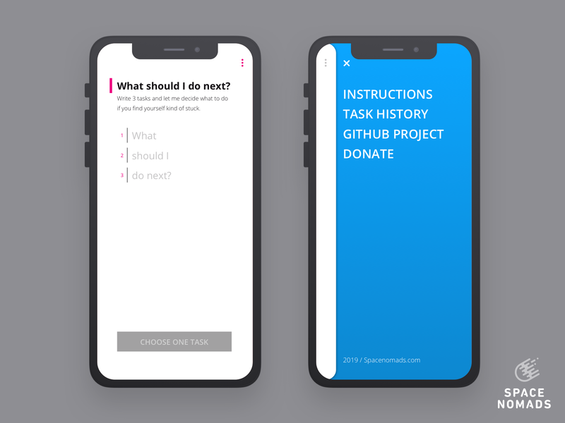 Main screen and mobile menu design ui sketch webapp decision manager