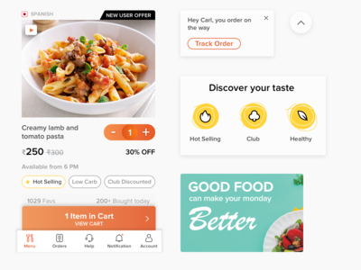 Mobile UI: Food Tech