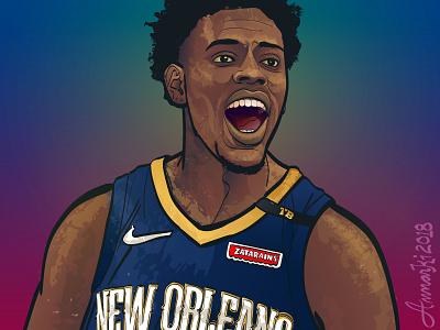 That boy Jrue! basketball sports vector illustration illustration nba new orleans pelicans jrue holiday