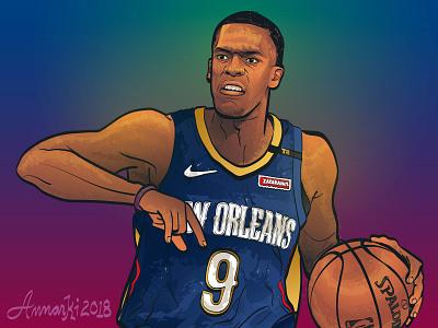 Playoff Rondo sports illustrator sports illustration nba basketball new orleans pelicans rajon rondo