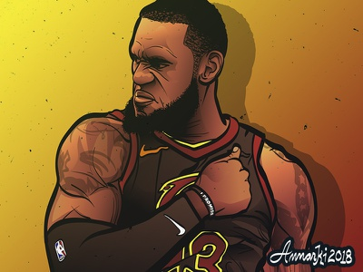 Lebron James illustration basketball sports nba cleveland cavaliers lebron james