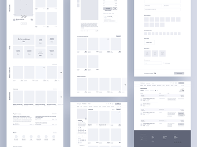 Meet Wearly 🛍 tonik wireframes website ux mockup homepage wireframe
