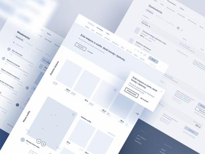 Meet Wearly 🛍 tonik wireframes website ux mockup homepage wireframe