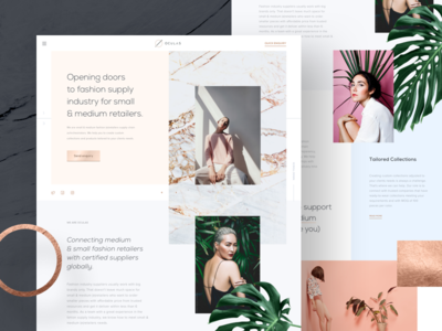 Oculas 🌿 tonik website rose retailer marble blue light homepage hero gold fashion