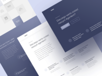 Insurance company - wireframes