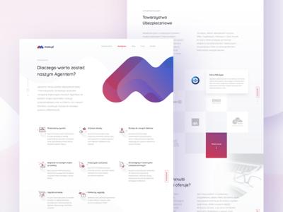Insurance company - Homepage 💜