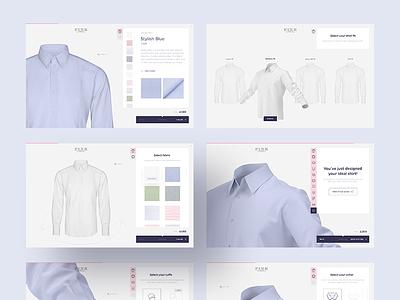 Digital shirt configurator 👕 ui fashion pitch ux menswear presentation configurator shirt