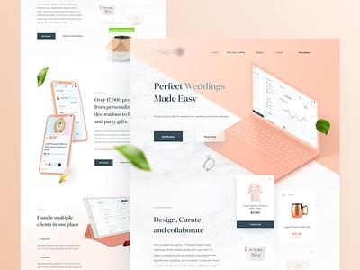 Wedding Planner – New Landing Page 👰🤵🥂 clean website minimal landing page bachelorette landing ui ux planner wedding