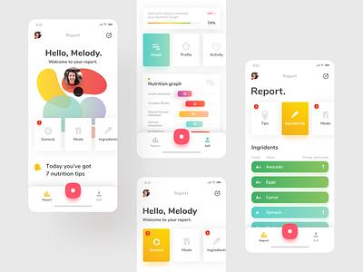 Nutrino App 🍒 ingredients mobile app mobile colorful food meal nutrition app design app ui ux