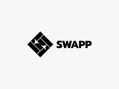 Swapp swap arrow minimal modern icon simple logo