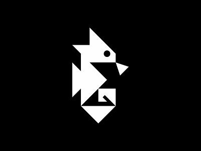 Seahorse seahorse sea animal minimal geometric modern simple logo