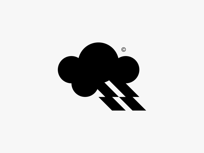 Stormside 2 cloud lightning storm nature minimal clean modern icon simple logo