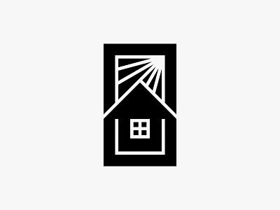 Sunhouse sun home house nature clean modern icon simple logo