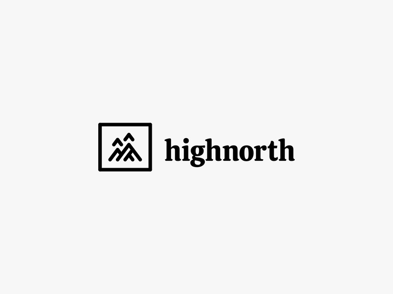 highnorth 3 outdoor adventure mountain nature modern icon simple logo