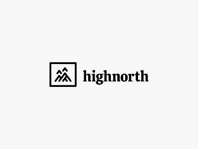highnorth 3 outdoor adventure mountain nature modern icon simple logo