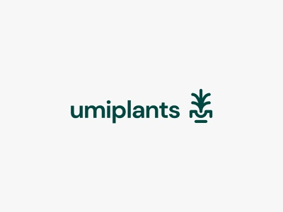 umiplants leaf pot plants tree nature modern icon simple logo