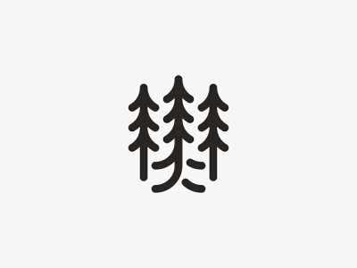 Forest walk 2 green traveling wild nature walk forest tree modern logo