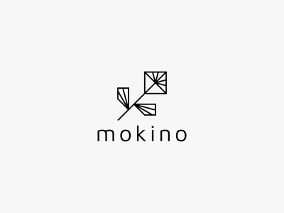 mokino flower lineart nature minimal clean modern icon simple logo