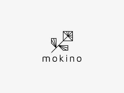 mokino flower lineart nature minimal clean modern icon simple logo