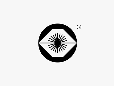 Pancarmata light shine sun eye clean modern icon simple logo