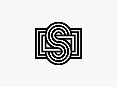 Smallform modern lines initial letterform logo