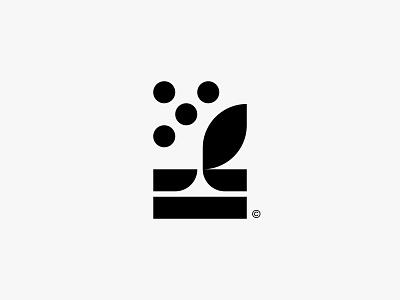 Seed seed leaf nature minimal clean modern icon simple logo