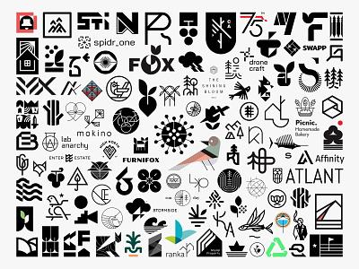 2020 year 2020 outdoor monogram animal nature minimal clean modern icon simple logo